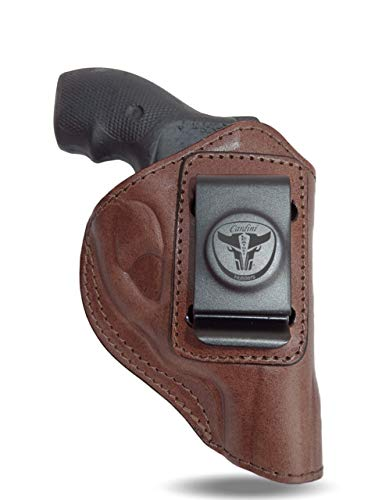 Cardini Leather USA - Zorro Series Holster - Right Handed - Brown Leather - For Ruger LCR 38 Special - Concealed Carry IWB with Clip