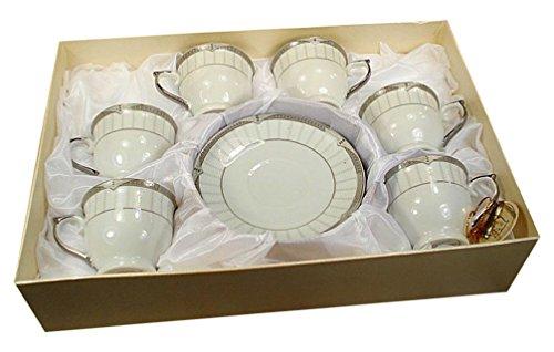 Ss Detail Set (StealStreet SS-DD-6SQ-800 Espresso Porcelain Set)