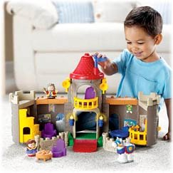 fisher price world of little people lil kingdom castle amazon co