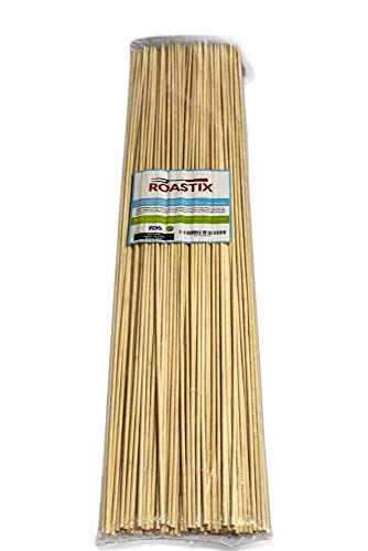 Roasting Sticks Safety - ROASTIX Bamboo Marshmallow Roasting Sticks, Perfect S'mores Kit, 110 Roasting Sticks for the Fire Pit and Grill, Bamboo Skewers, 3 Feet Long, Kid Friendly, 100% Biodegradable, Sausage, Kebab, Hot Dog