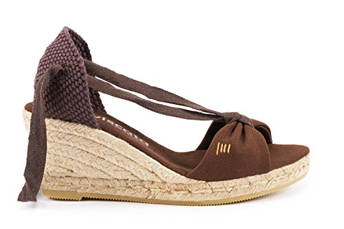 VISCATA Tossa Alpargata de Cuña para Mujer de 6,5 cm Tacón, Diseño Elegante Calidad Made in Spain marrón