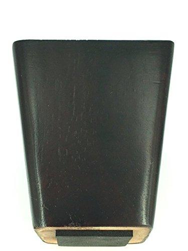 ProFurnitureParts 4'' Inch Black Cherry Finish Square Tapered Wood Sofa Legs Set of 4 W/Anti Slip Pad on Bottom (2''x2'' Leg Plates Included)