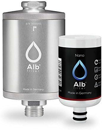 Alb Filter® Nano Duschfilter. Bakterien, Keime und Anti-Legionellen-Filter sicherer zertifizierter Sofortschutz für Dusche und Bad. Made in Germany Silber