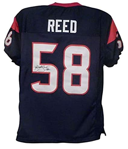 cheap for discount e5496 e7cf6 Brooks Reed Autographed/Signed Houston Texans Blue XL Jersey ...