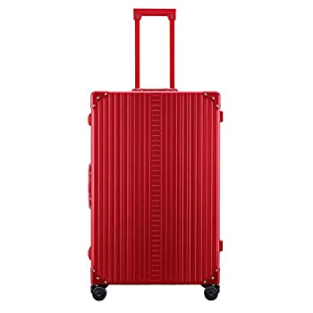 Image of Aleon 30' Macro Traveler Aluminum Hardside Checked Luggage (Ruby) Red Luggage