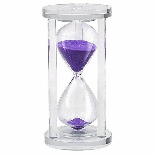 45 Mins Hourglass Life-C Sand Timer Romantic Crystal Sand Clock Gift Package (Purple Sands) (Outdoor Clocks Ireland)