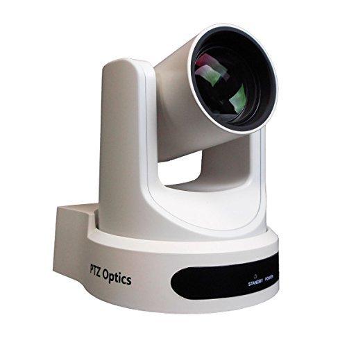 PTZOptics 2MP Full HD Indoor PTZ Camera, 12x Optical Zoom, 1920x1080 at 60fps, USB 3.0, HDMI, IP Streaming, CVBS, 72.5 degree FOV, White by PTZOptics
