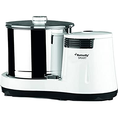 Butterfly Smart Wet Grinder, 2L (White) with Coconut Scrapper Attachment, 150 W 8