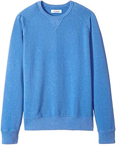 Goodthreads Men's Crewneck Fleece Sweatshirt, Blue, Large