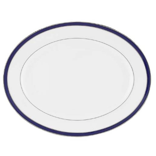 Lenox Federal Cobalt Platinum Bone China 16-Inch Oval Platter ()