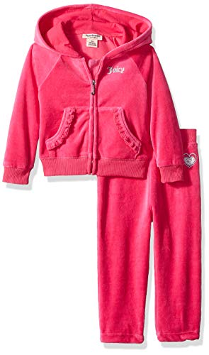 - Juicy Couture Baby Girls 2 Pieces Jog Set - Velour, Silent Vanilla, 12M