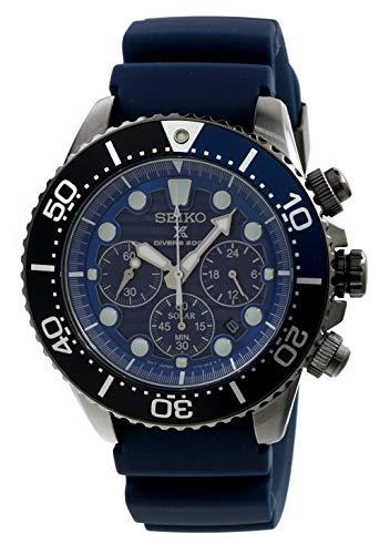 (SEIKO Prospex Mens Save The Ocean Diver's 200m Chronograph Solar Sports Watch SSC701P1)