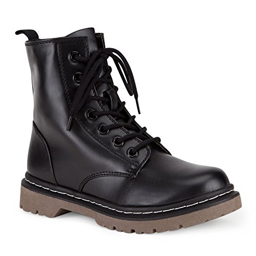 Marco Republic Navigator Womens Military Combat Boots - (Black) - 11