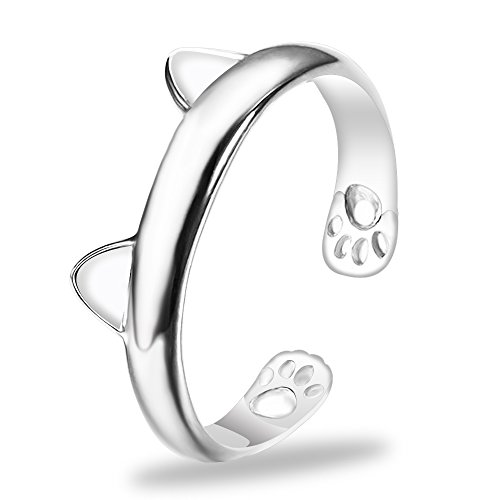 - Cute Animals Club Adjustable Ring for Women - Sterling Silver Rings for Women, Wrap Around Rings for Women Sterling Silver, Knuckle Rings for Women Sterling Silver, Cute Rings for Women