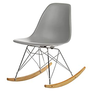 Joseph Allen Home Mid-Century Modern Rocking Chair, Grey