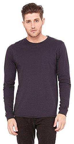 Bella Canvas Men's Jersey Long-Sleeve T-Shirt, Large, Dark Grey Canvas Long Sleeve Jersey