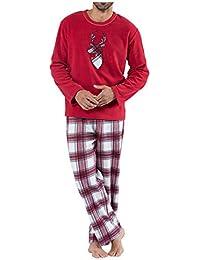 Family Matching Christmas Pajamas Sets Reindeer Santa Claus Sleepwear