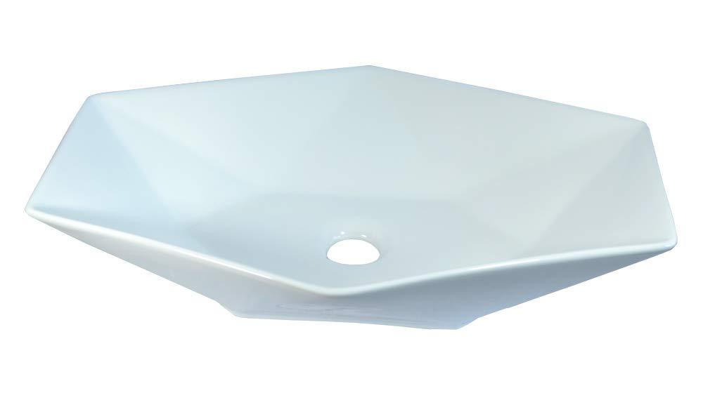 1x Lavabo en c/éramique /évier ovale blanc grand de lavage Vasque /à Poser en c/éramique Salle de Bain Diamant 56,5x36,5x12
