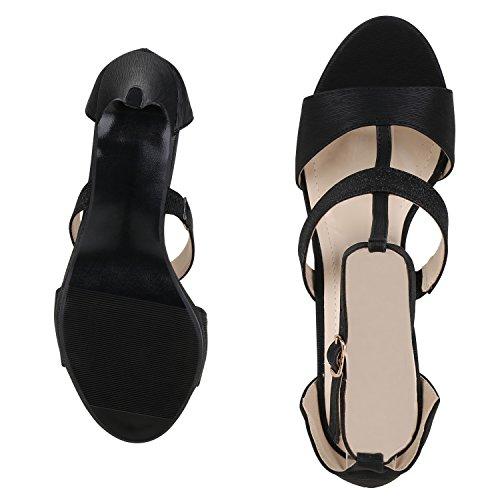 napoli-fashion - Tira de tobillo Mujer Schwarz Muster