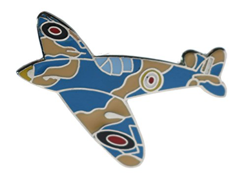 Spitfire Plane Fighter Aircraft Hat or Lapel 1 Inch Pin (Plane Hat Pin)