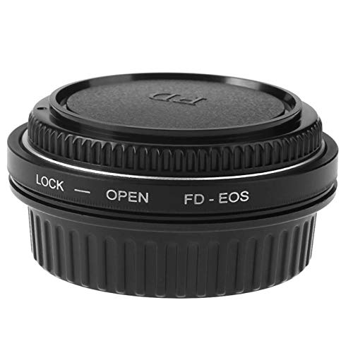 SUPERELE FD-EOS Camera Lens Adapter Ring with Correcting Lens with Lens Cap Cover for Canon FD to EOS Camera Lens 49mm