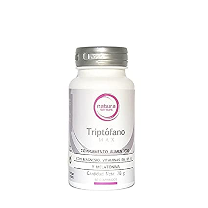 Triptófano Max con Magnesio, Melatonina y Vitaminas B6, B5 y B3 60 comprimidos NATURA