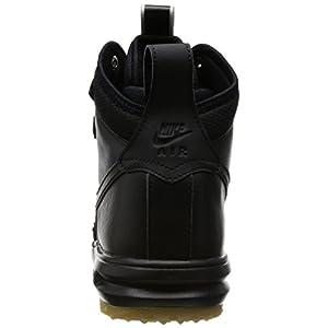 Nike Mens Lunar Force 1 Duckboot Black/Black/Metallic Silver/An Boot 10 Men US