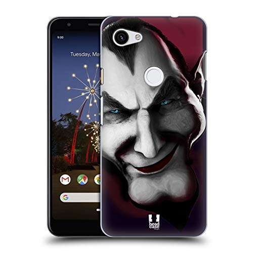 Head Case Designs Dracula Horror Classics Hard Back Case Compatible for Google Pixel 3a - Head Dracula