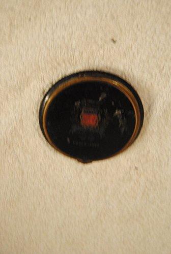 Vintage Elegant Black Enamel Paris 1937 Round Powder Vanity (Enamel Vanity)