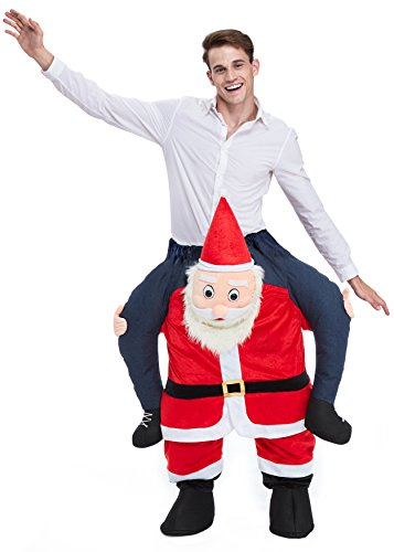 YOU LOOK UGLY TODAY Christmas Party Costumes, Santa Claus Ride Me Adult Carry On Piggy Back Fancy Dress Christmas Costumes
