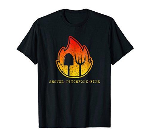 Farm Halloween Shirt Shovel | Pitchfork | Fire