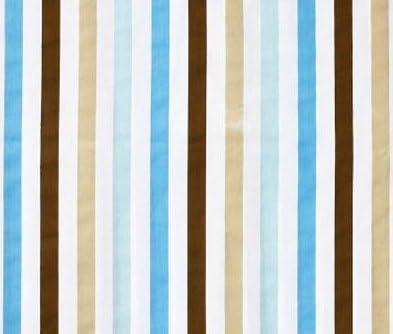 Bacati Mod Dia/Strips Aqua and Choc Stripes Crib fitted sheet by Bacati