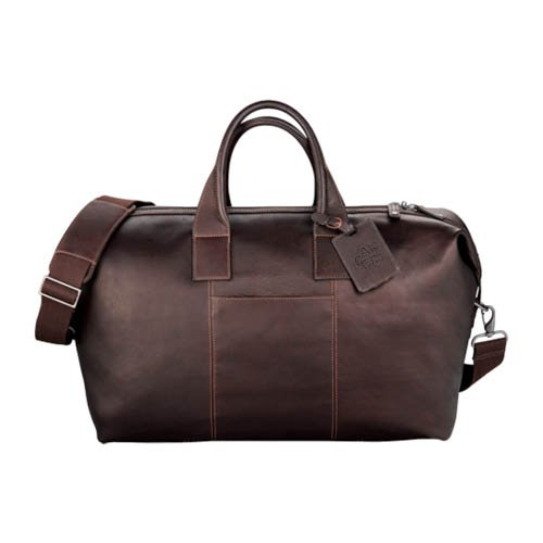 UC Irvine Kenneth Cole Columbian Leather Mahogany Weekender Duffel 'Official Logo Debossed' by CollegeFanGear