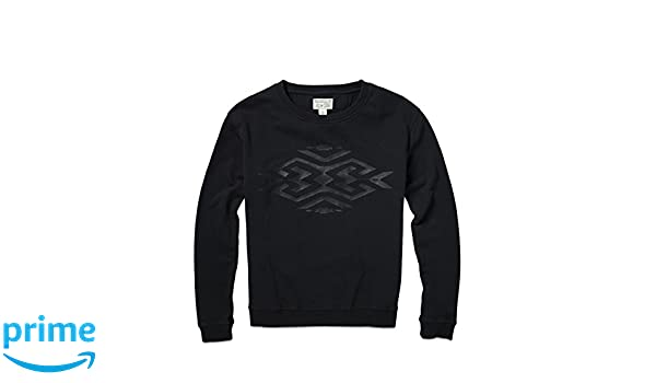 881beb1b1ec03 Converse Women's Nomad Crew Sweatshirt X-Small Black at Amazon ...