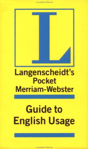 Merriam Webster Pocket Guide to English Usage