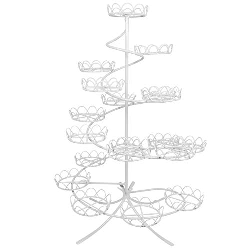 Knights Bridge Global CS1005 PME Cupcake Stand - White Coated Wire Standard ()