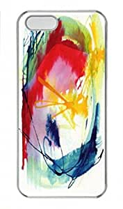 Abstract Paint Design PC Transparent Tough Hard Armor Case Cover Skin for Iphone 5S - Retail Packing for Iphone 5S - Brushing