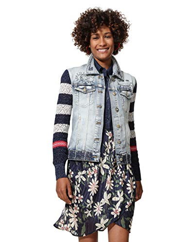 Desigual Sailor Denim Jacket Blue Veste Femme En Woman Lover Bleu Jean PPOTrq