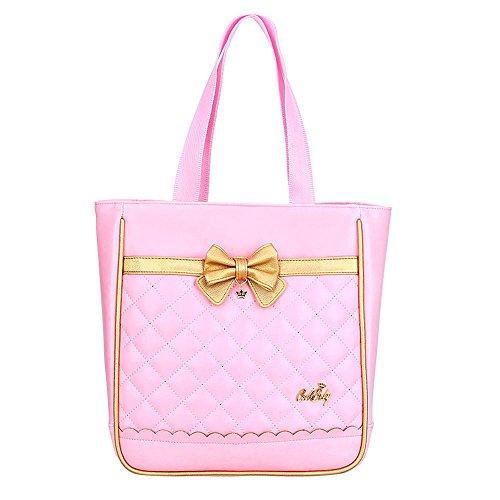 Gazigo Children Princess Waterproof PU Backpack for Elementary School Girls (Handbag: 12.5