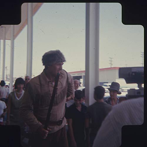 Fess Parker Candid Davy Crockett Costume at Event Original Medium Format Slide ()