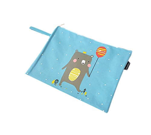 2Pcs Stylish Stationery Paper Storage Bag File Bag Fashion Office Supplies