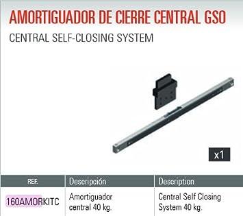 Adinor 6156400004 Amortiguador (GSO-GSU) Cierre Central Puertas CORREDERAS DE 40 Kg, Multicolor