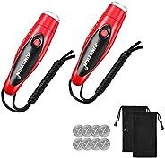 GOALSET Apito eletrônico com cordão, 2 pacotes com três efeitos sonoros, seguro e higiênico para treinadores d