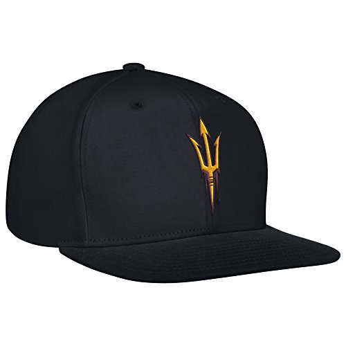 NCAA Arizona State Sun Devils Men's Flat Brim Snapback Cap, One Size, Black