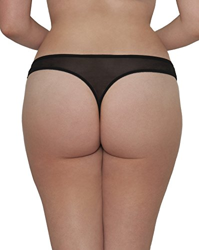 Curvy Kate Kitty - Tanga Mujer Black (Berry/Copper)