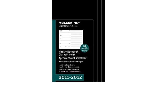 2012 Moleskine Large Weekly Notebook 18 Months Hard ...