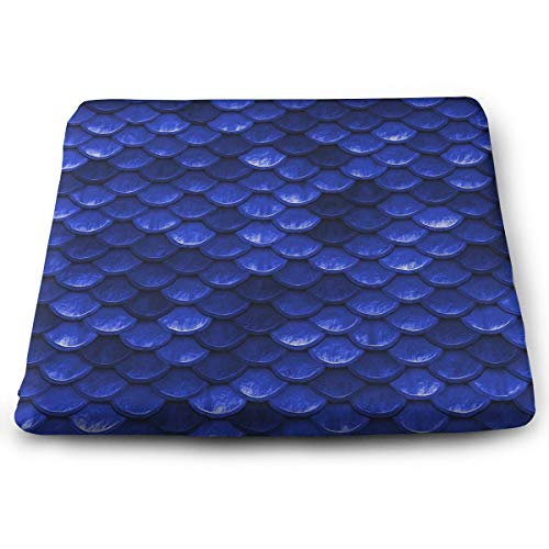 - Super Soft Memory Foam Seat Pad, Beautiful Cobalt Sea Blue Mermaid Fish Scales Office Chair/Bar Stool Cushion Pad, Square Breathable & Soft Indoor/Outdoor Seat Cushion Fit Patio Home Decor