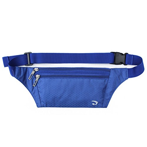 Mens 80s Clothes (Ultrathin Casual Outdoor Sport Polyester Stealth Small Running Travel Waist Bag Royal Blue)