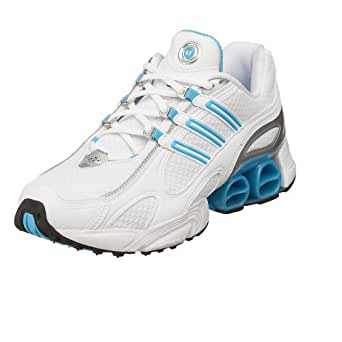 adidas Women's a3 Axiom Running Shoe,White/Aqua/Silver,5.5 M