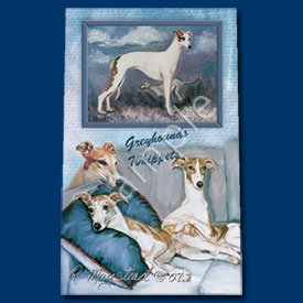 (Greyhound and Whippet Roller Ball Pen Designer Ruth Maystead)